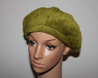Women's Jacoll Vintage Green Wool/Angora Fur Designer Hat   Good condition