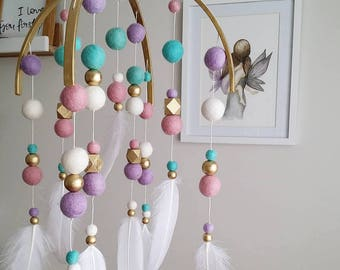 Pastel Dreaming // Gold Halo + Gold beading Mobile