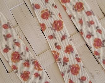 Fancy floral design polyester Ribbon