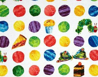 SALE!!! ---- Hungry Caterpillar Eric Carle Dots Sheet - crib sheet/Changing pad/boppy cover/nursing pillow/teething bumpers/rail guards