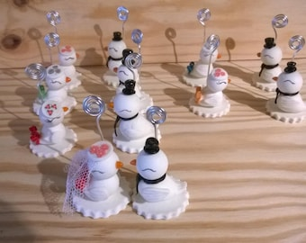 Mark up: birds for wedding in cold porcelain.
