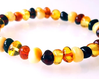 Amber Bracelet Medical Baltic Amber Baroque Round Beads