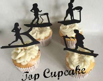Treadmill Cupcake Toppers -12
