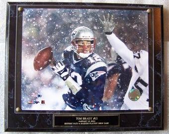 Tom Brady New England Patriots Photo Plaque