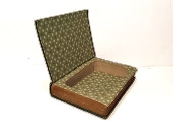 Hollow Book Safe Herself Ireland Cloth Bound vintage Secret Compartment Security hiding place