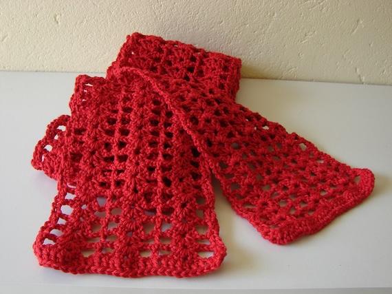 Crochet pattern spring scarf | crochet womens scarf | summer scarf ...