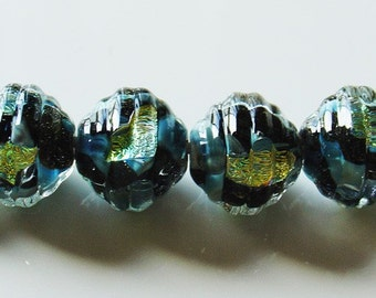 10mm Unicorne Coconut Lampwork Bead - Faith - 2 Pieces - 21936
