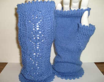 Vicky's Lace Gloves Pattern for fingerless gloves, PDF file,Adult size