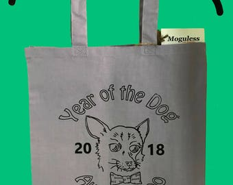 Tote Bag - Lavender - Year of the Dog