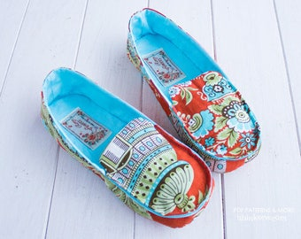 686 Kathy Woman Moccasins PDF Sewing Pattern