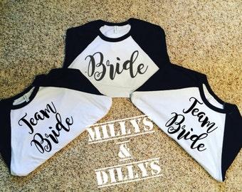 Bridal Party  shirts Tops Bridal Party Shirts, Gold Bachelorette shirt,  Team bride shirts,  Bridesmaid, GOLD MOH