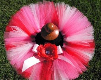 """Baby Tutu - Pink Red Tutu - Sweetheart Tutu - Infant or Toddler 6"""" Tutu - sizes 0-3 mo to 24 months"""