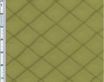 "Lime 1 1/4"""""""" X 1 1/4"""""""" Diamond Pintuck Taffeta"""", Fabric By The Yard"