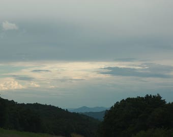 Cloudy Skies in the Mountains, Cloud Photography, Mountain Photos, Digital Phtographs, Instant Download
