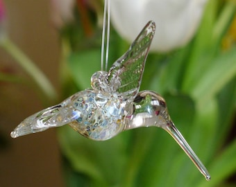 Multi Colored Glass Hummingbird Hand Sculpted by Jenn Goodale
