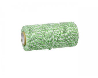 100 m spool Style Baker's Twine string light green and white