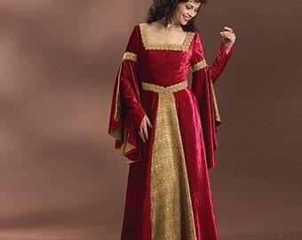 pattern Butterick 4571 Renaissance Costume Pattern : Medieval Dress Pattern Size 6-8-10-12, Sewing Pattern, New Uncut