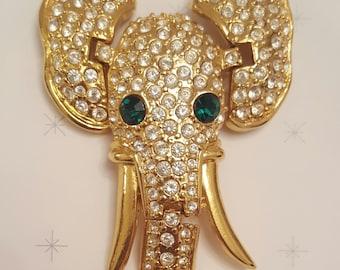 REDUCED!! Elephant Shoulder Brooch