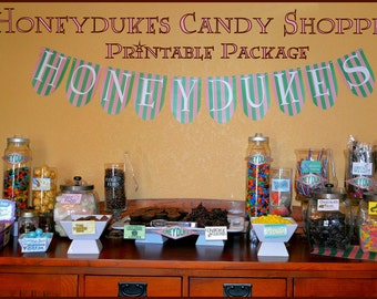 Honeydukes Candy Shop Package for Candy Buffet or Dessert Table  INSTANT DOWNLOAD