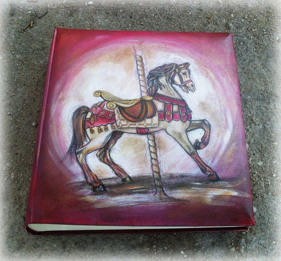Photo Books, Photobook, Photo Album, Photo Album Book, Leather-like Photo Album, Case-bound Photo Album, CAROUSEL HORSE