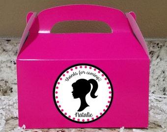 SALE! 12+ Labels Or Boxes & Labels 12 Barbie Treat Boxes, Barbie Gable Boxes, Barbie Party Boxes , Barbie Stickers Little Mermaid LOGO