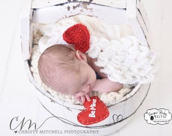 CROCHET PATTERN  Angel Wings -White Angel Wings, Wings, Angel, Red Heart, Newborn, Crocodile Stitch Wings, Photo Prop Boy. Girl