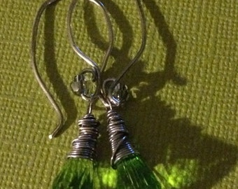 Green Swarvoski Briolettes