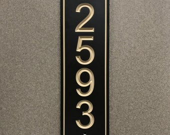Vertical Classic House Number