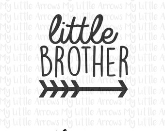 Little brother arrow SVG, DXF, EPS, png Files for Cutting Machines Cameo or Cricut // little brother svg // sibling svg