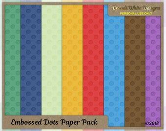 Digital Scrapbooking Background Paper: Embossed Dots