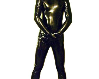 4-way stretch male vinyl catsuit