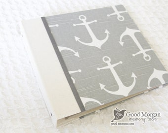 0 to 12 months Baby Memory Book - Grey Nautical
