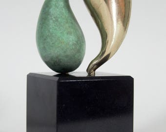 Yin Yang Bronze Sculpture, Bronze statue, bronze anniversary, couples gift, abstract sculpture, contemporary sculpture, Ying Yang