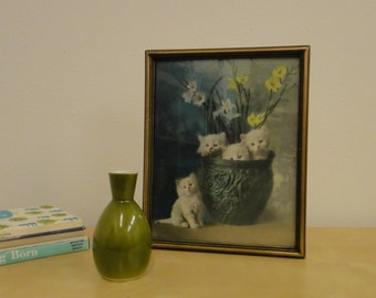 Vintage Modern Olive Green Vase - Otagiri Mercantile Company