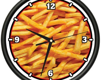 French Fries Wall Clock Food Fried Potato Gift