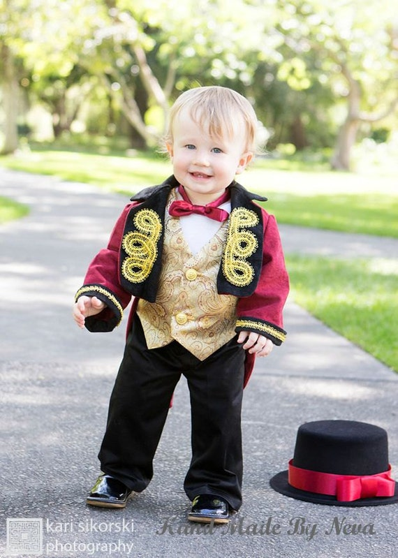 Ringmaster Costume Circus Ring Leader Baby Photo Props