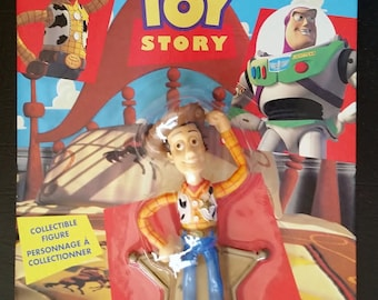 TOY STORY WOODY Action Figure Mint On Card Toy 1995 Memorabilia Collector Toy Action Figure Canadian Only Thinkway Disney