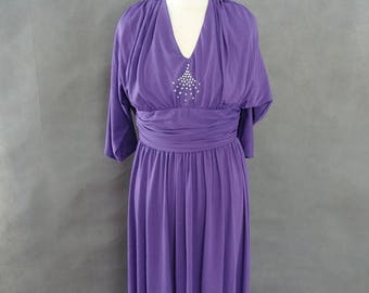 VINTAGE DRESS -Violet Maximum Draped