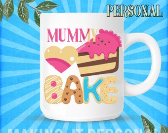YOUR NAME's or Mummy Bake Personalised Mug Gift Idea