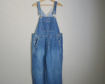 vintage 90s GAP denim jean overall dungaree pants -- womens large --38x28