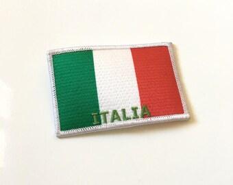 Great coat sewing Italian flag 8.5 x 5.5 cm