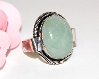 Aventurine ring and 925 sterling silver size 54 after Beach ©