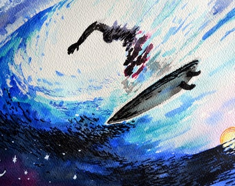 Magical Moment - Original and unique artwork in watercolor