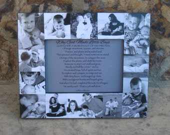 """Baby's First Year Collage Picture Frame, Personalized Baby Frame, Unique Photo Frame, Unique Mother's Day Gift, Father's Day Gift, 5"""" x 7"""""""