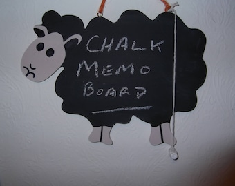 Memo Board - Chalk Board - Sheep Design