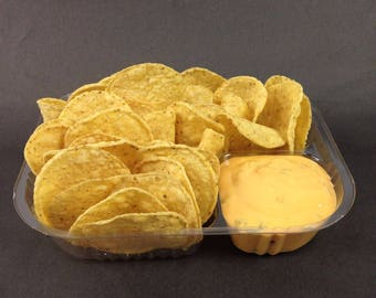 """Disposable Nacho Trays, Clear 2 Compartment, Large, 8"""" X 6"""" X 1.5"""""""