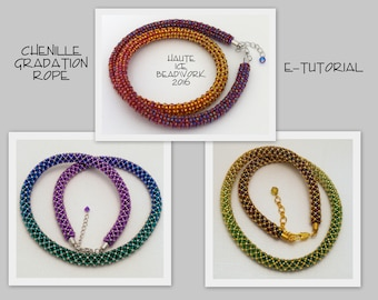eTUTORIAL for Beaded Gradation Rope in Chenille Stitch