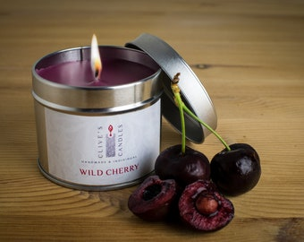 Wild Cherry (Cherry Bakewell Tart) Candle In A Tin