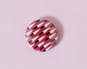 Knife Pattern One Inch Button