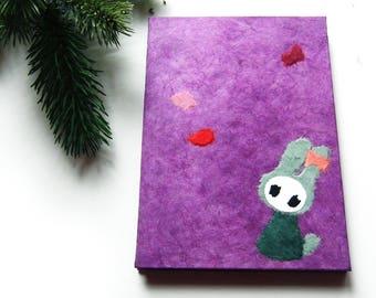 """Accordion Photo Album """"Bunny"""" violet"""